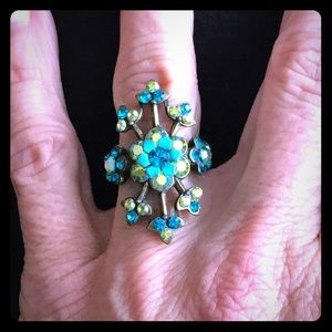 Jewelry - Multicolor Stones Adjustable Size Ring